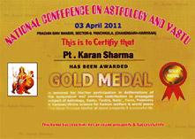 Gold medalist Pt. Karan Sharma